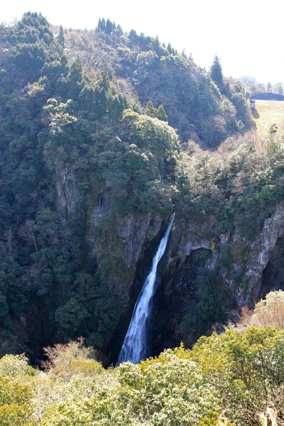 西椎屋の滝(第1展望台より)