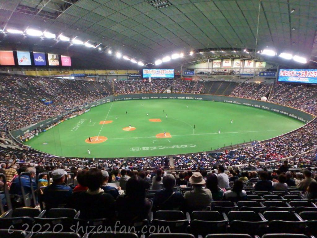 札幌ドーム内の様子(野球)