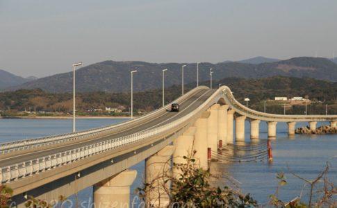 瀬崎陽の公園から望む角島大橋