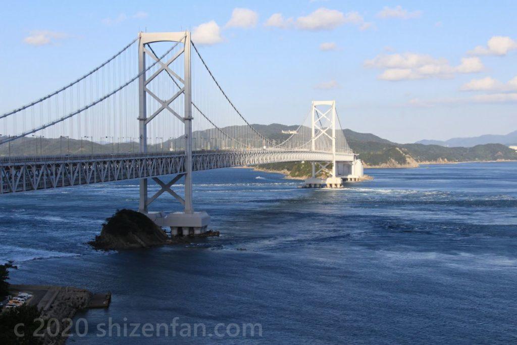 お茶園展望台から望む大鳴門橋