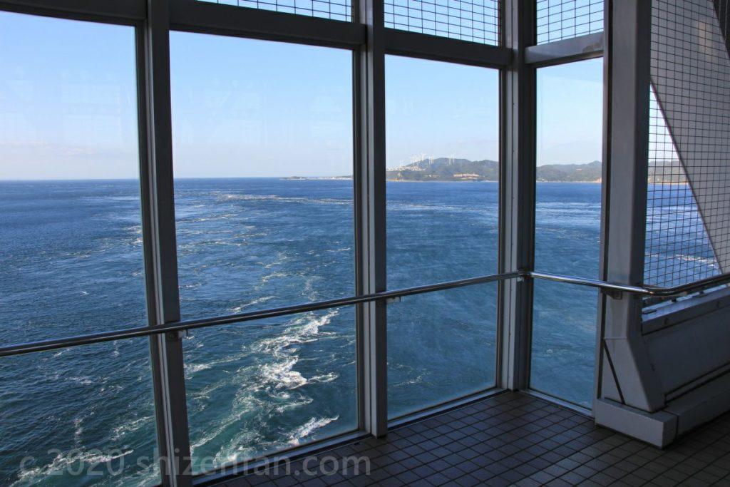 大鳴門橋遊歩道 渦の道からの鳴門海峡の眺望