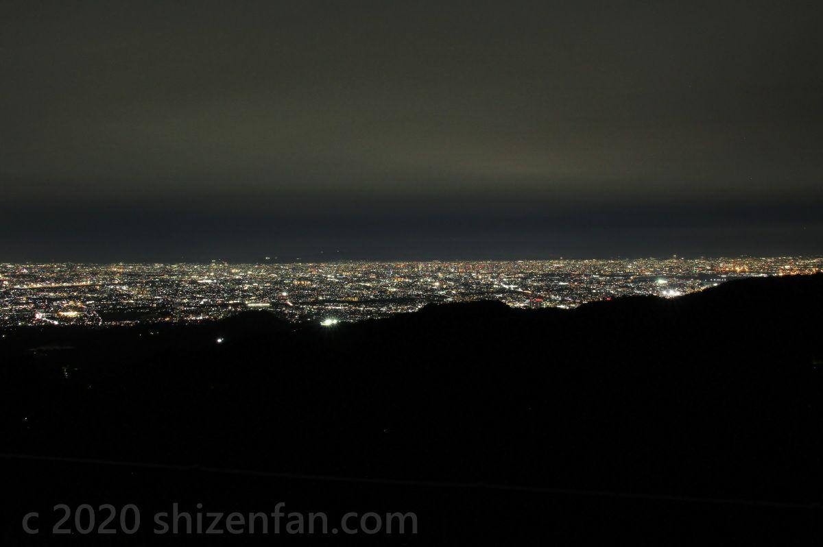 芦有(ろゆう)ドライブウェイ・東六甲展望台からの夜景