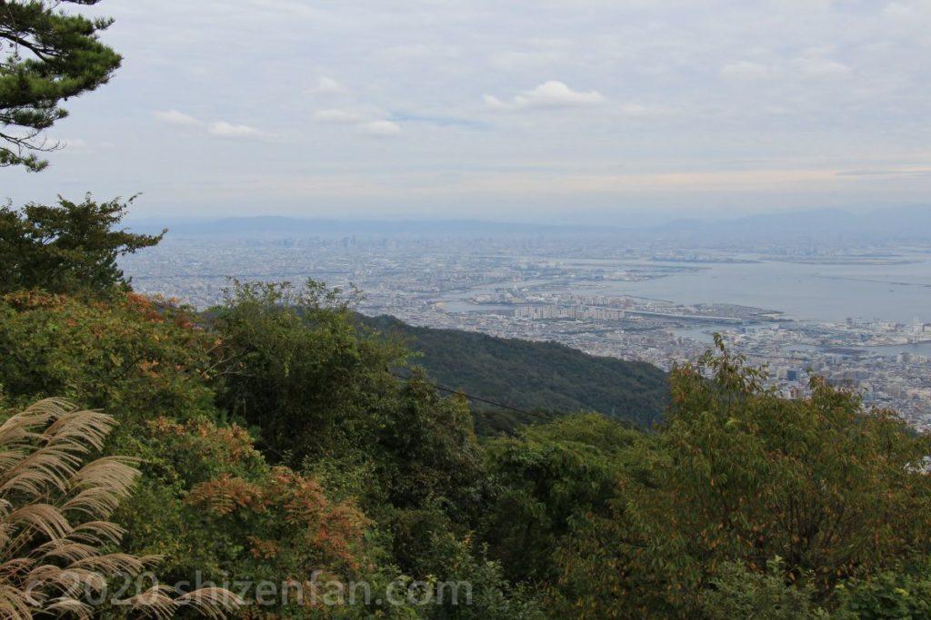 六甲・天覧台から望む大阪湾方面