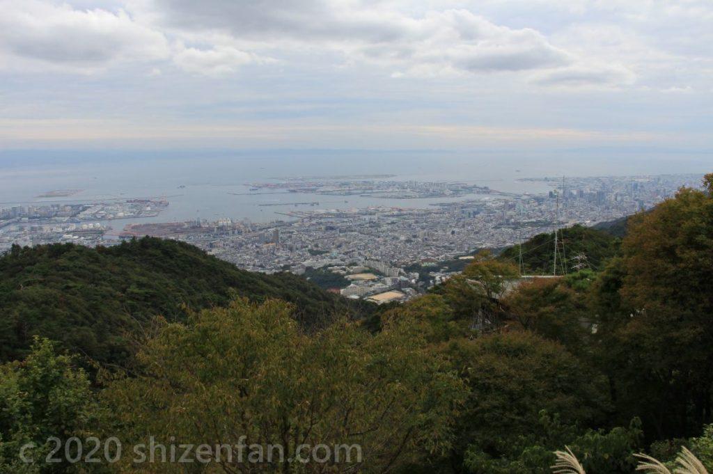 六甲・天覧台から望む神戸方面