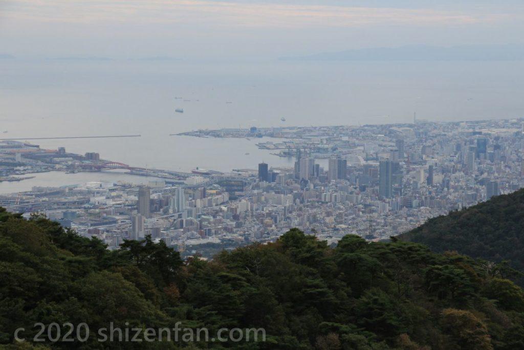 六甲・天覧台から望む神戸ベイエリア