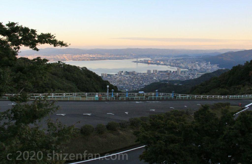 比叡山ドライブウェイ・夢見が丘展望台から望む琵琶湖南部・大津