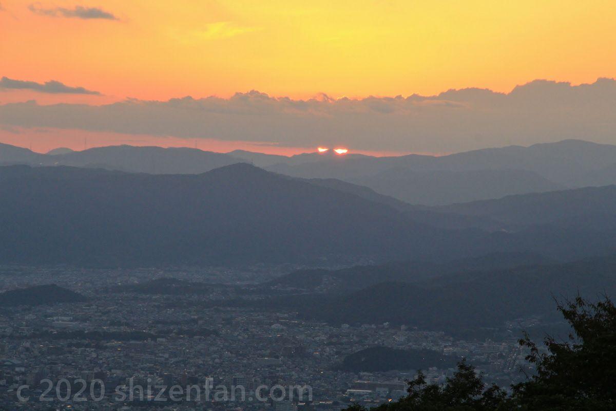 比叡山ドライブウェイ・登仙台から望む夕日