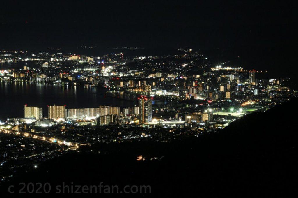 比叡山ドライブウェイ・夢見が丘から望む大津の夜景