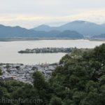 摠見寺(安土城跡)から望む西の湖