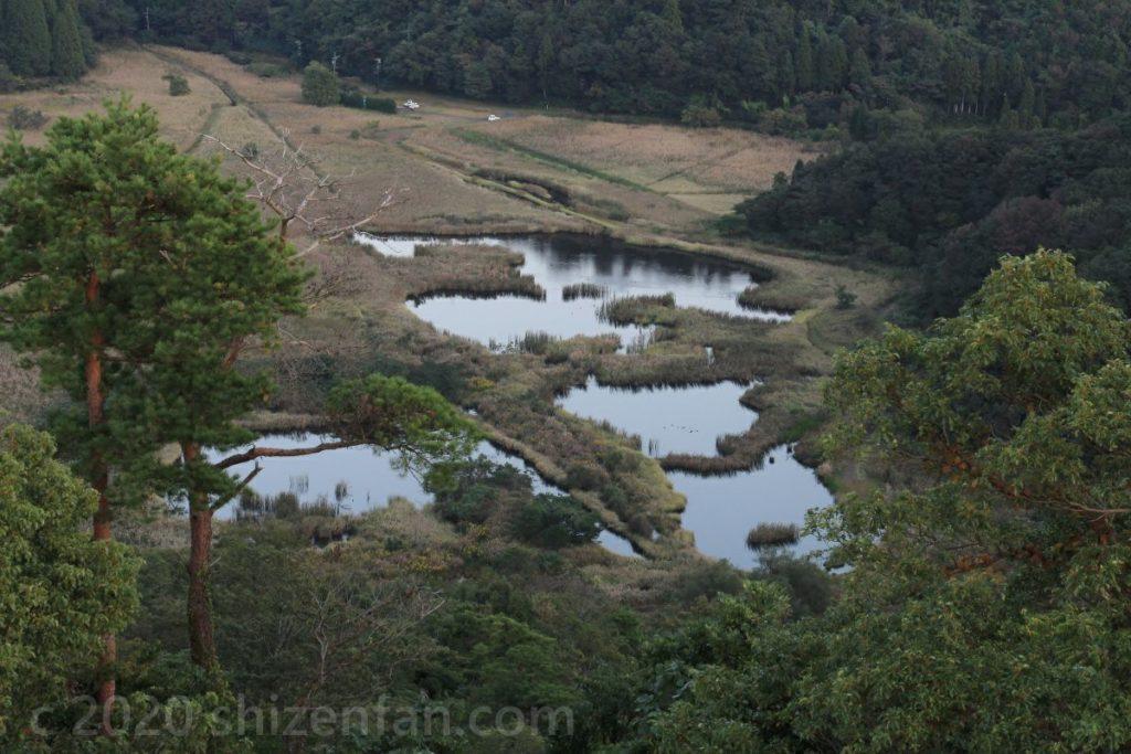 中池見湿地(手筒山展望台より)