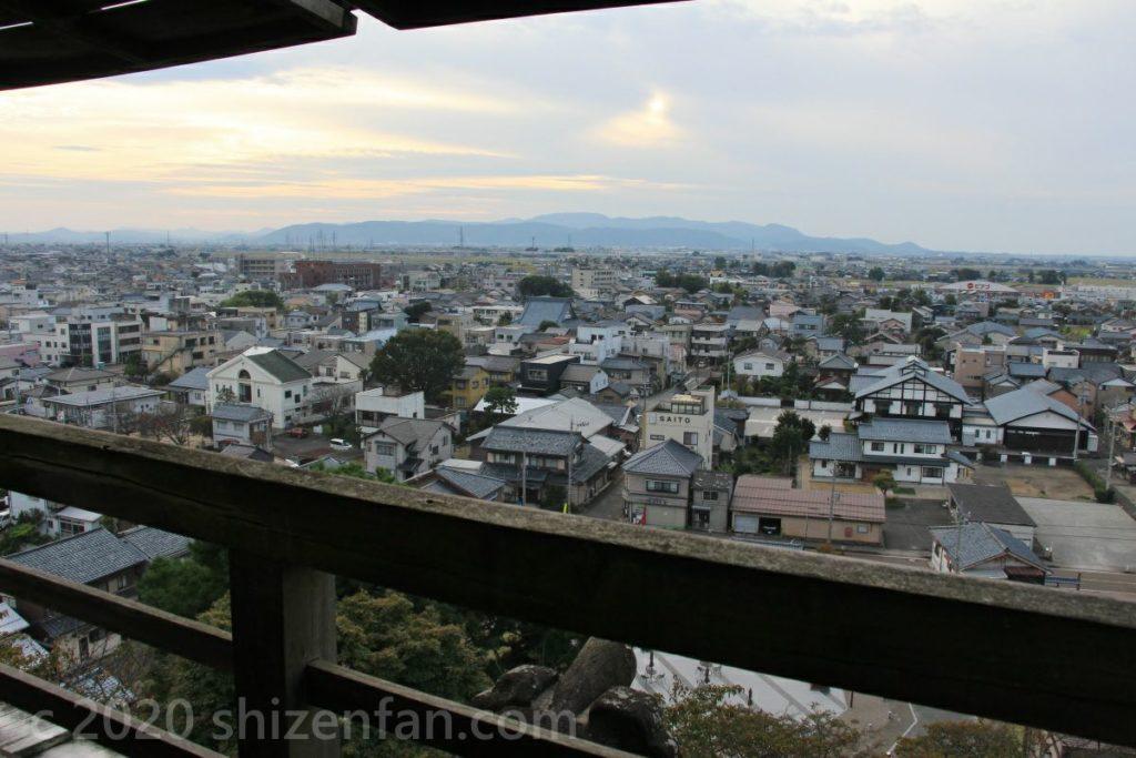 福井県坂井市・丸岡城からの眺め