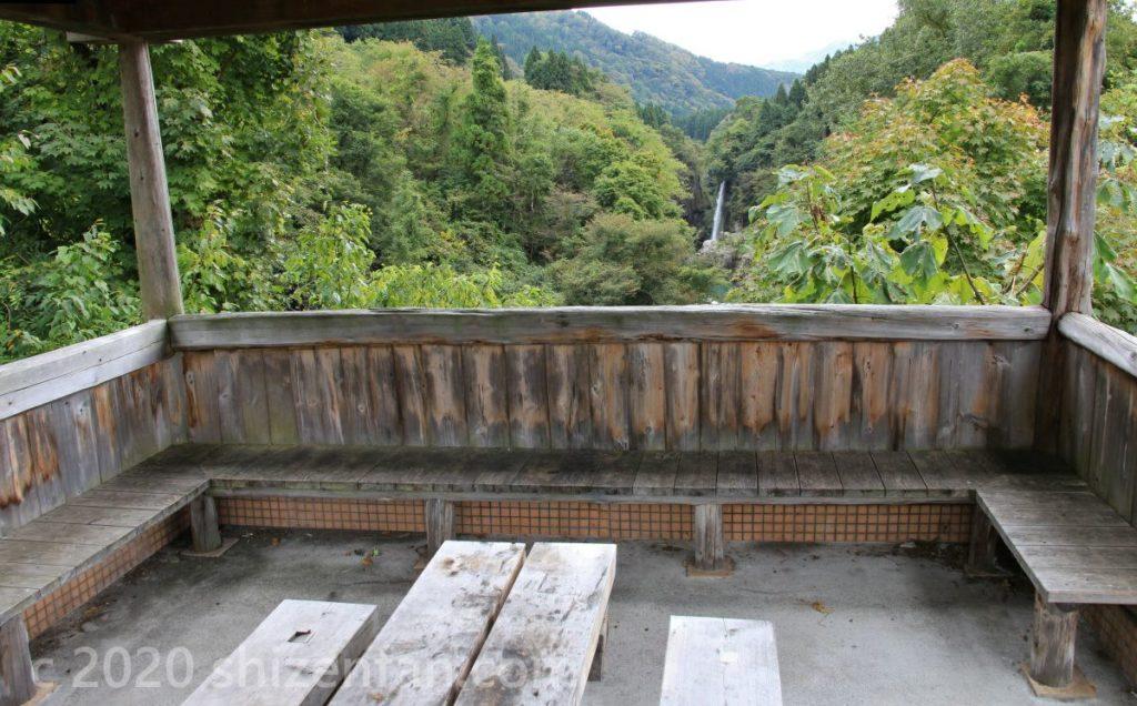 白山手取川ジオパーク・綿ヶ滝の展望東屋