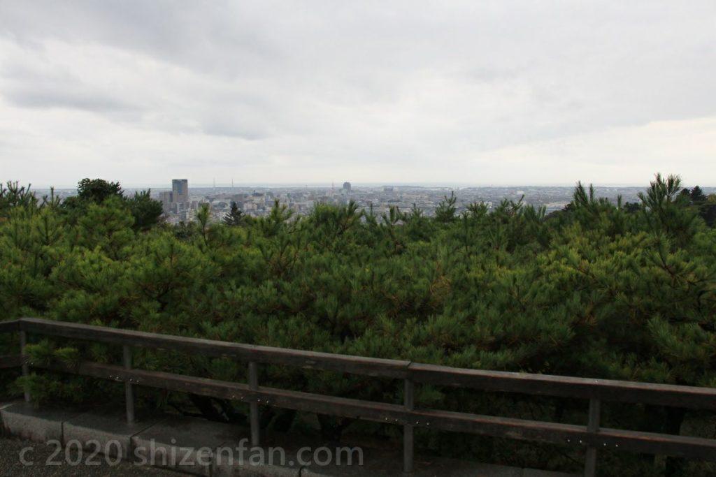 金沢卯辰山・望湖台からの眺め