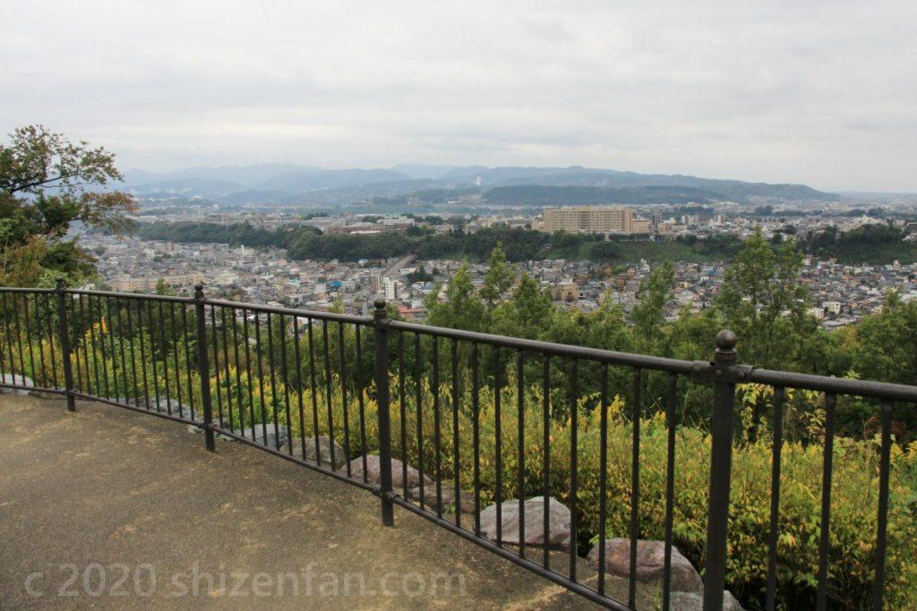 金沢・卯辰山見晴らし台からの眺め