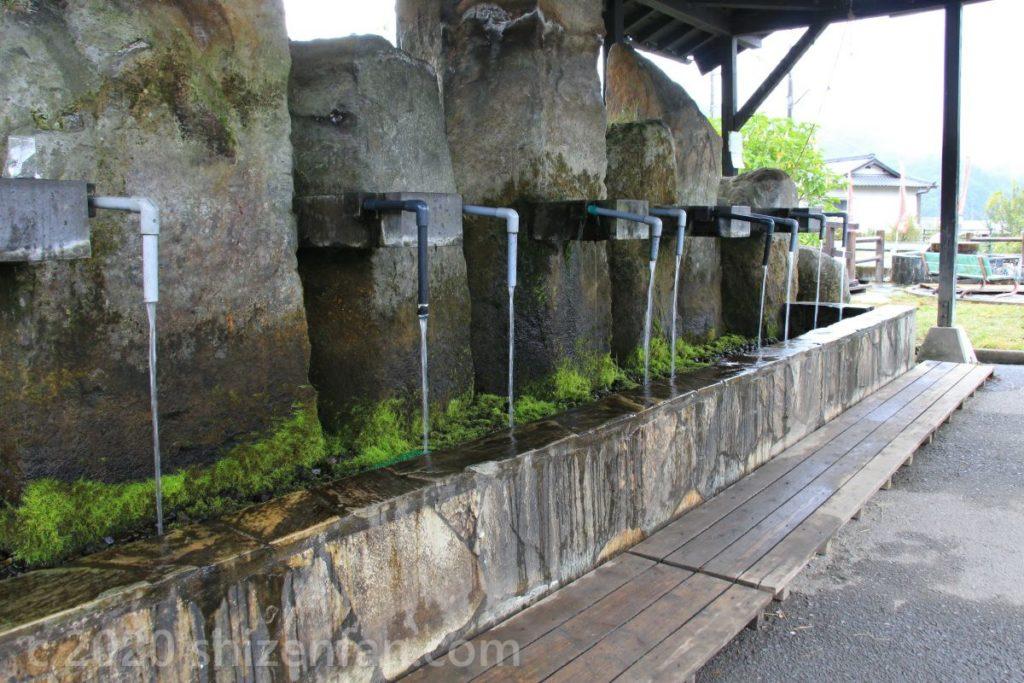 河宇田湧水の水汲み場(竹田湧水群)