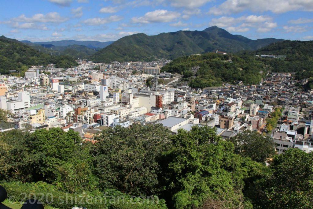 宇和島城天守2階より北側の眺望