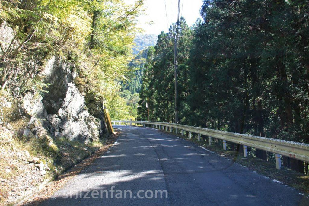四国の祖谷渓を走る国道439号の様子