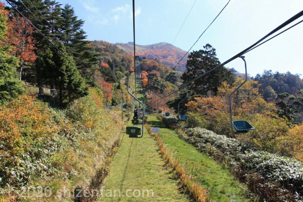 徳島・剣山の上りロープウェー