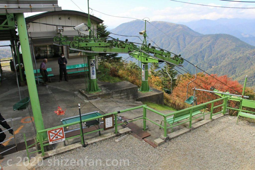 徳島・剣山の山頂駅(西島駅)