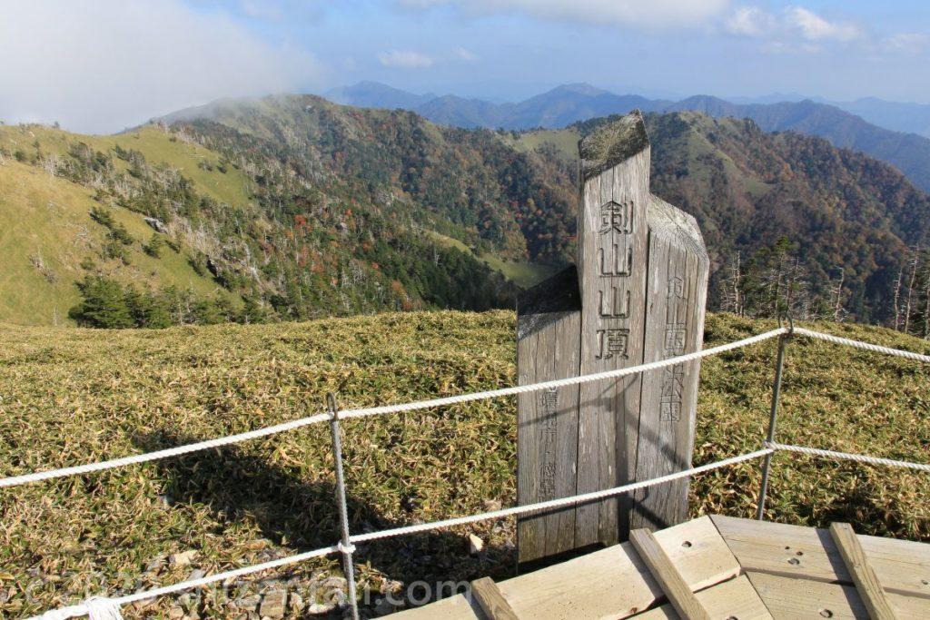 徳島・剣山山頂
