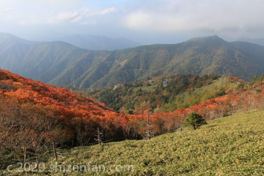 徳島・剣山の紅葉