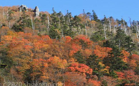 紅葉の剣山