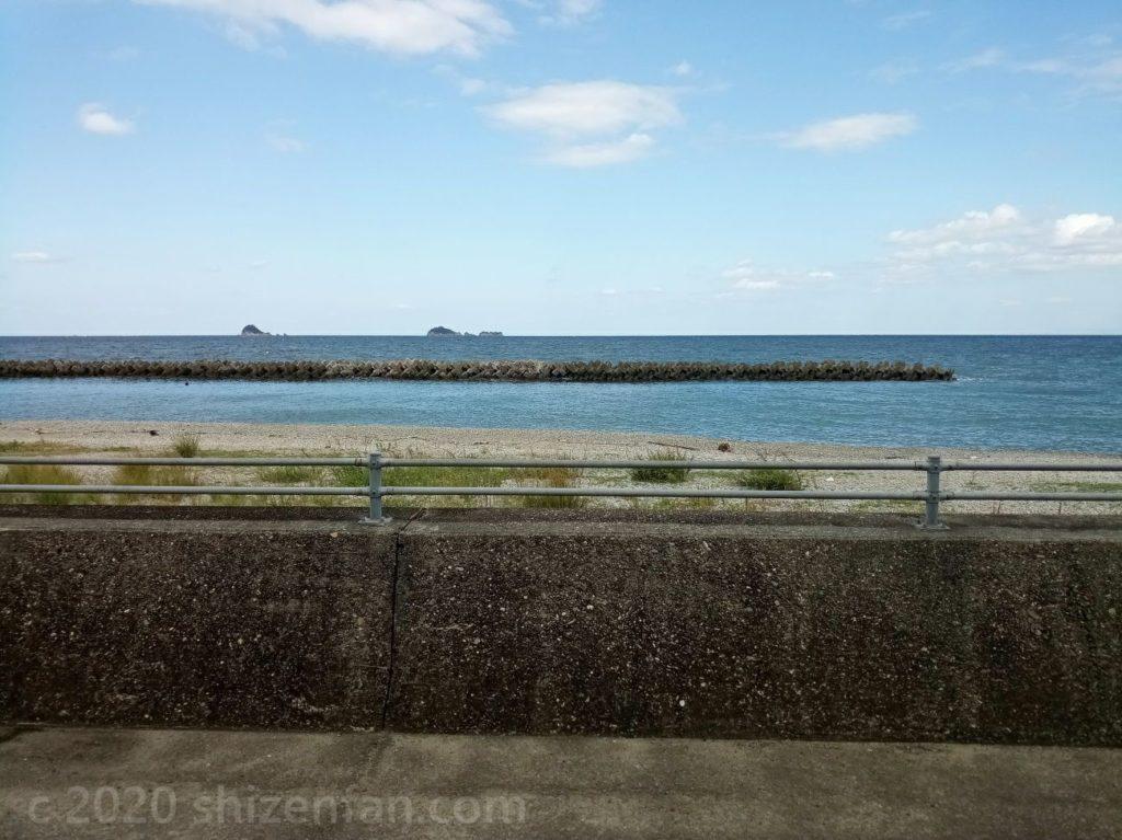 香川県最東端のうどんやからの瀬戸内海の景色