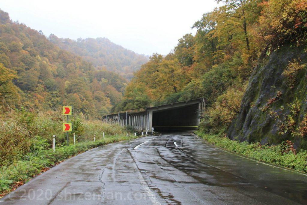 奥只見シルバーラインのトンネル入口の様子