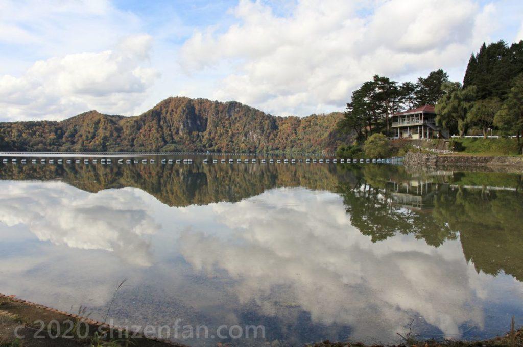 沼沢湖畔キャンプ場から見渡す沼沢湖
