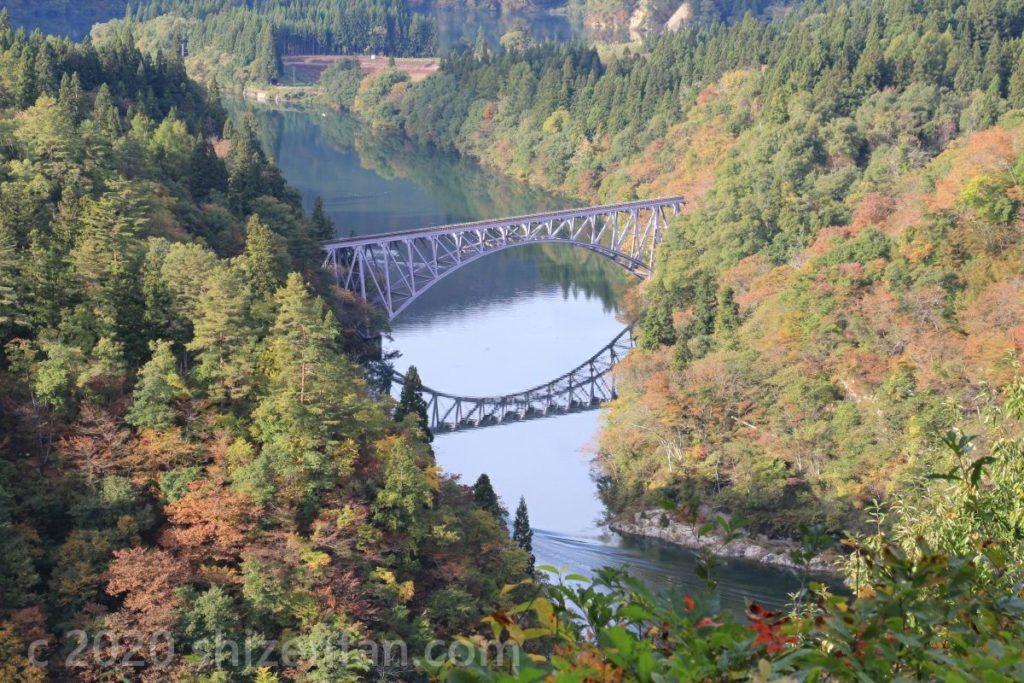 第一只見川橋梁(ビューポイントB)寄り