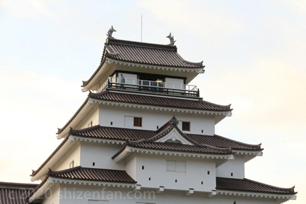 鶴ヶ城(会津若松城)上部の寄り