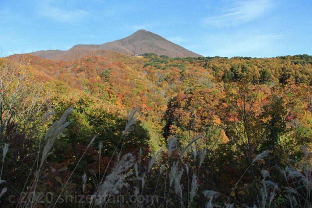 磐梯山ゴールドライン滑滝展望台から望む磐梯山