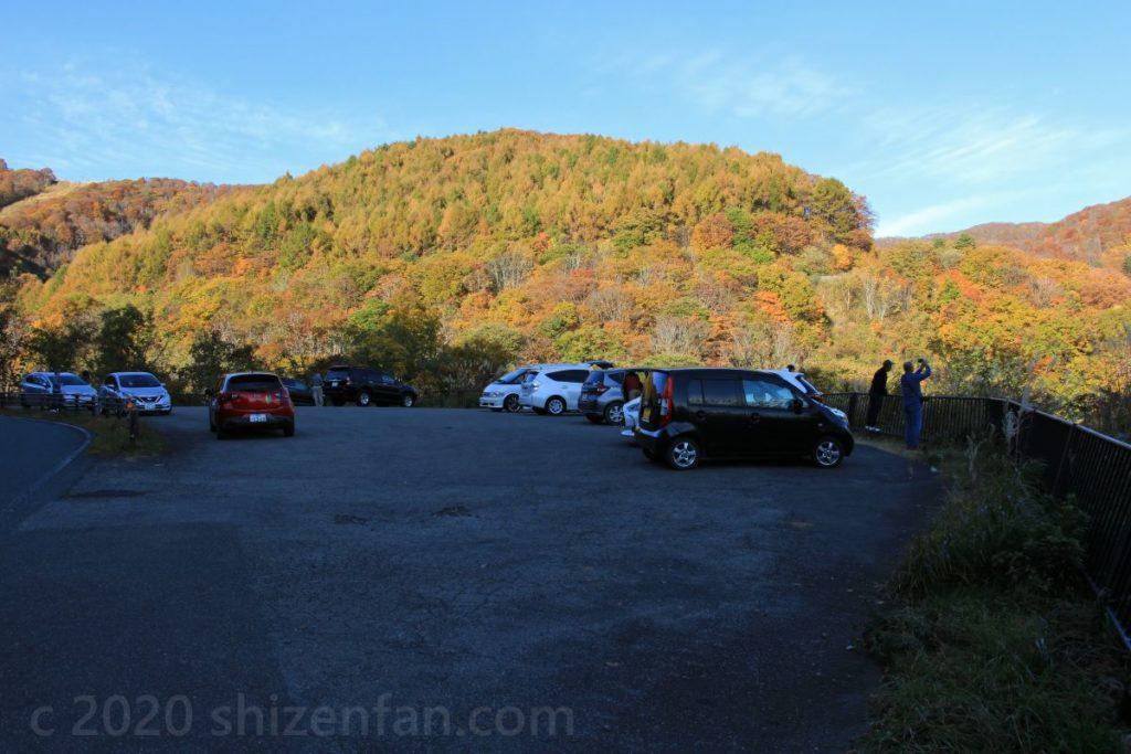 磐梯山ゴールドライン滑滝展望台駐車場