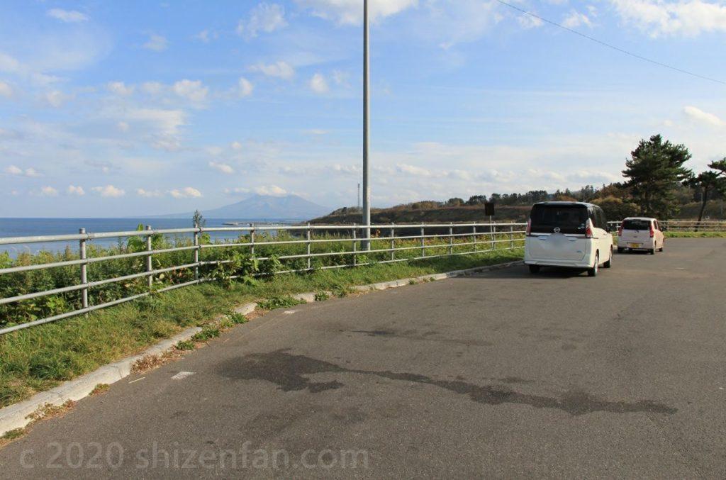 国道5号沿いの北海道駒ヶ岳ビューポイント駐車場