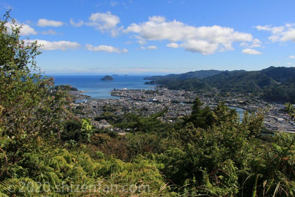 臼杵・水ヶ城展望台からの眺め(快晴時)