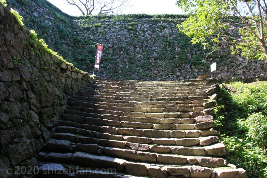 宇和島城の石段